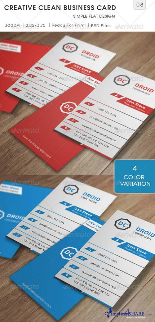 GraphicRiver Creative Clean Business Card v8