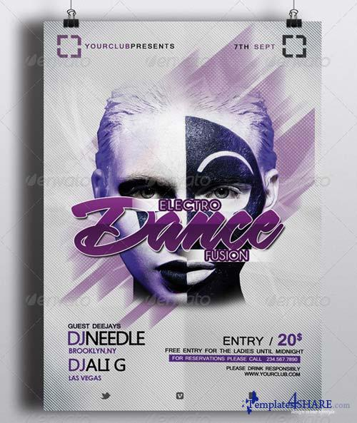 GraphicRiver Electro Dance Fusion Event Flyer