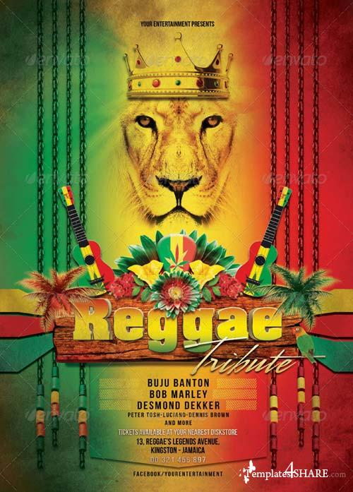 GraphicRiver Reggae Tribute Flyer