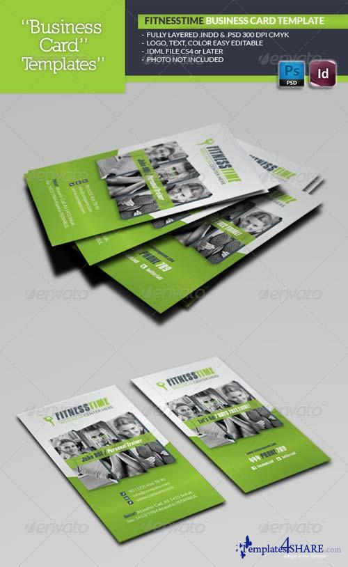 GraphicRiver Fitness Time Business Card Template