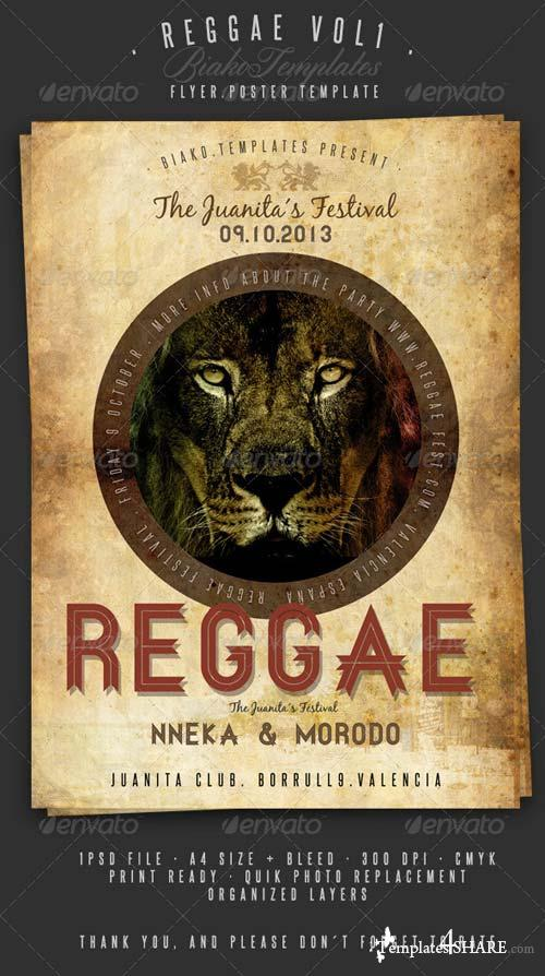 GraphicRiver Reggae Vol.1 Flyer/Poster Template
