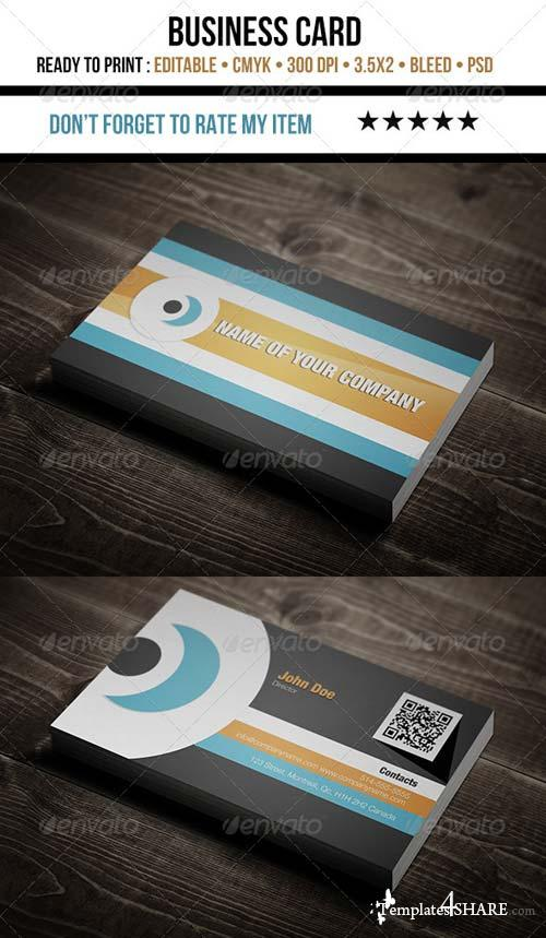 GraphicRiver Corporate - Flat Design Business Card