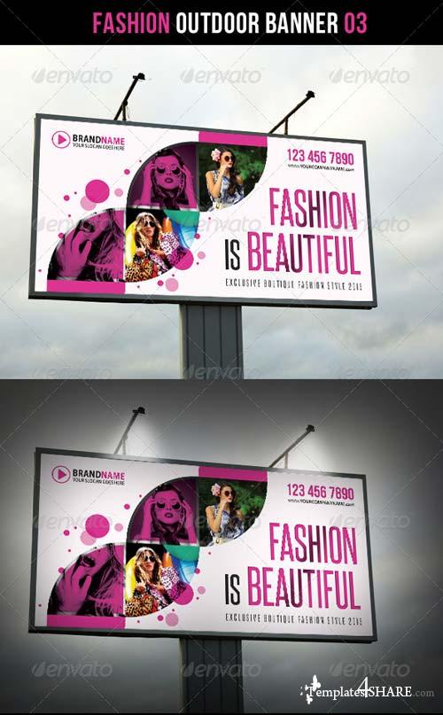 GraphicRiver Fashion Outdoor Banner 03