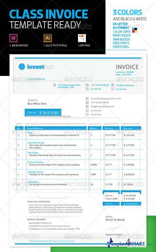 GraphicRiver Class Invoice Template
