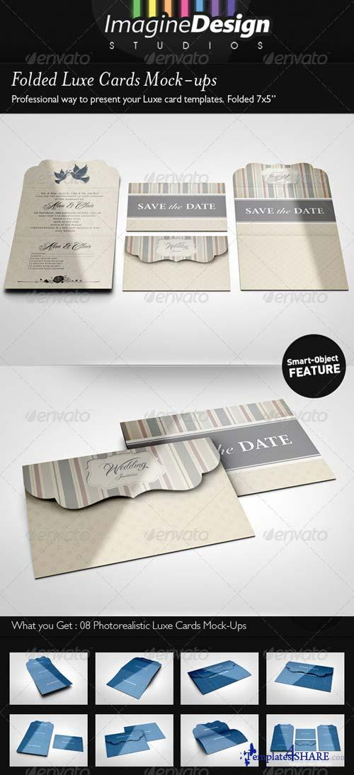 GraphicRiver Folded Luxe Cards Mock-ups
