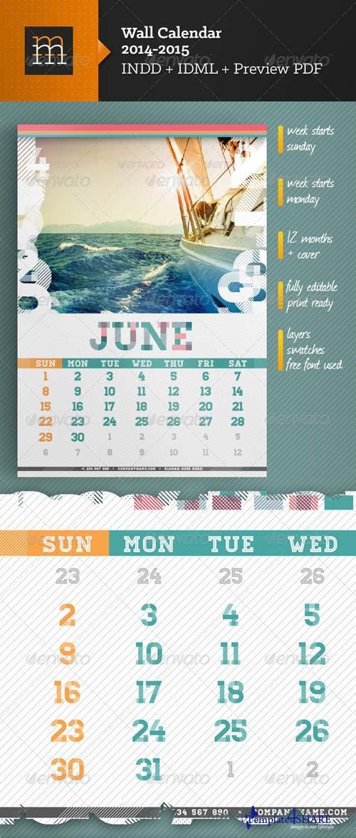 GraphicRiver Wall Calendar A3 2014-2015
