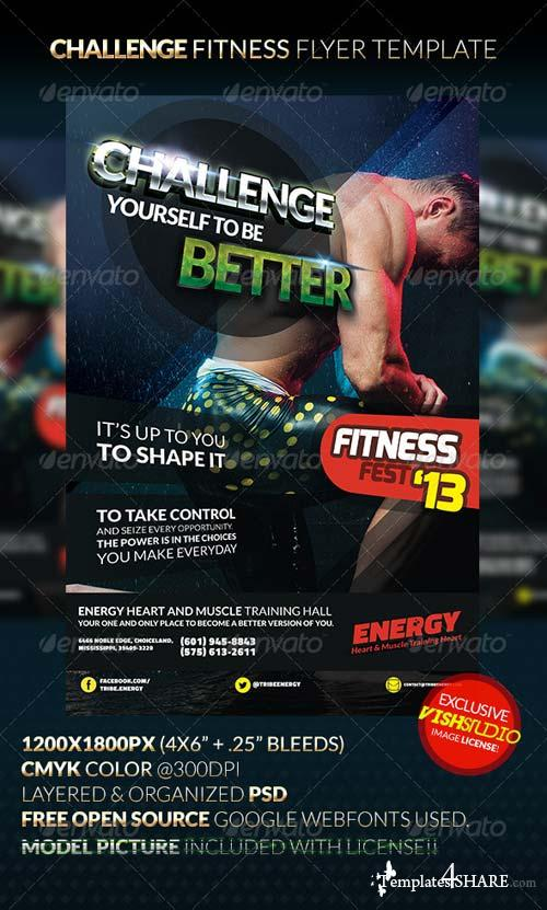GraphicRiver CHALLENGE Fitness Flyer Template