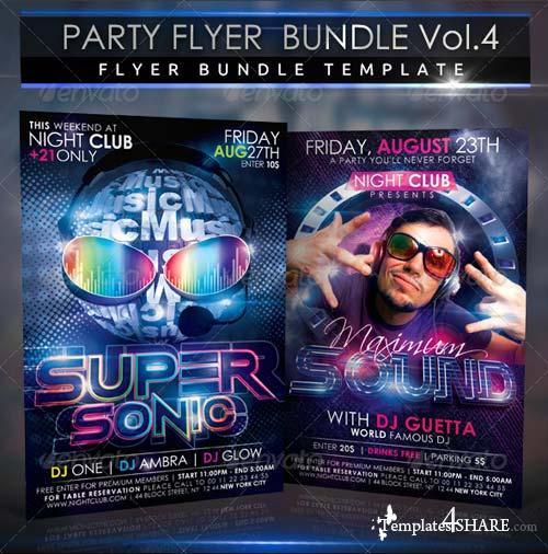 GraphicRiver Party Flyer Bundle 2 in 1 Vol4