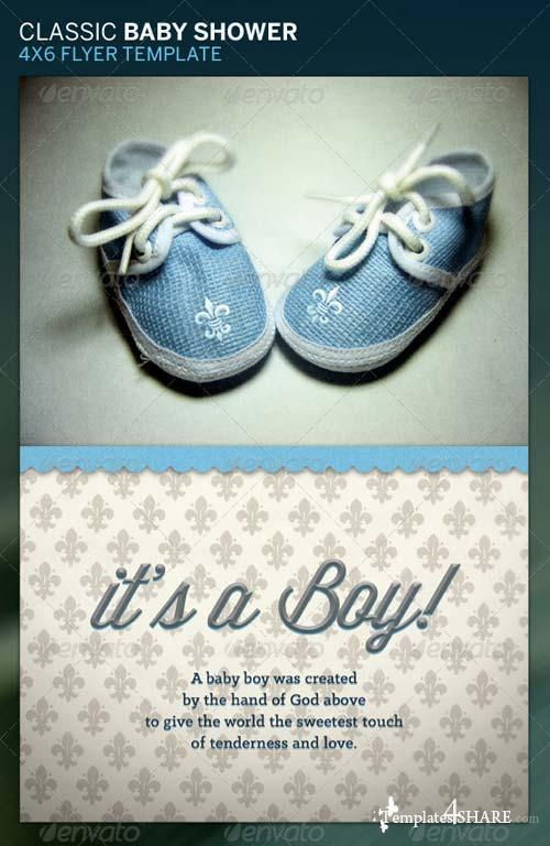 GraphicRiver Classic Baby Shower Flyer Template