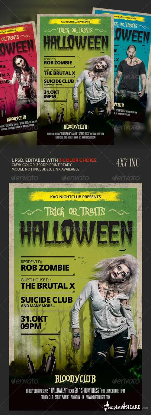 GraphicRiver Trick Or Treat Halloween Flyer Template 5603757