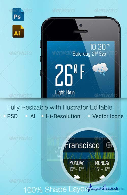GraphicRiver Weather Application