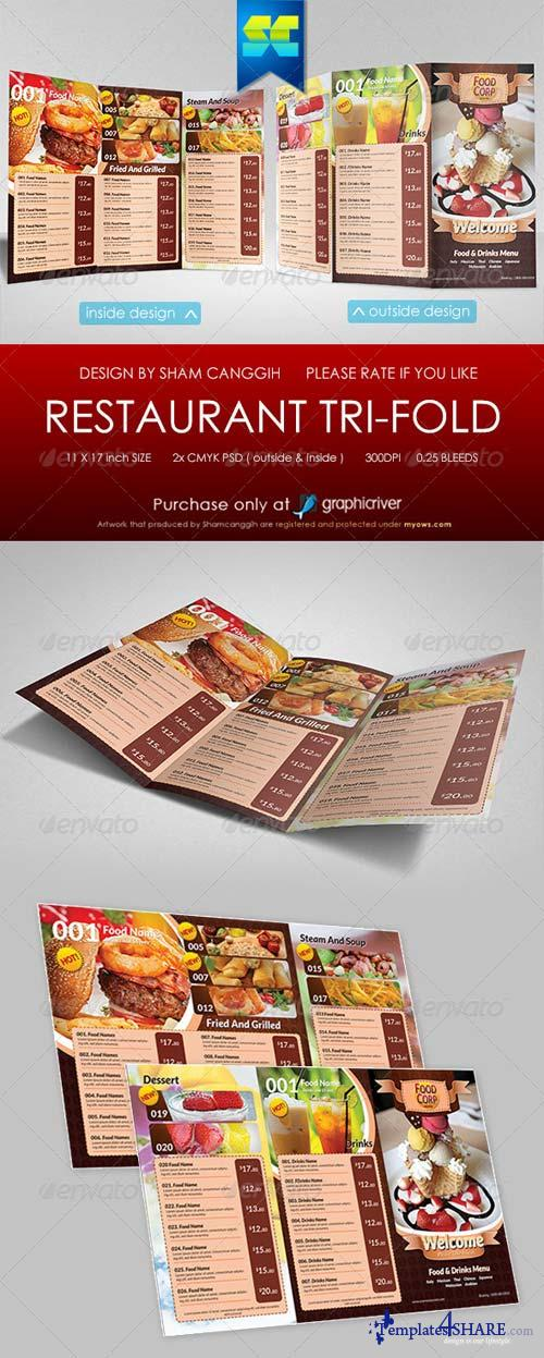 GraphicRiver Tri-Fold Restaurant Menu Template