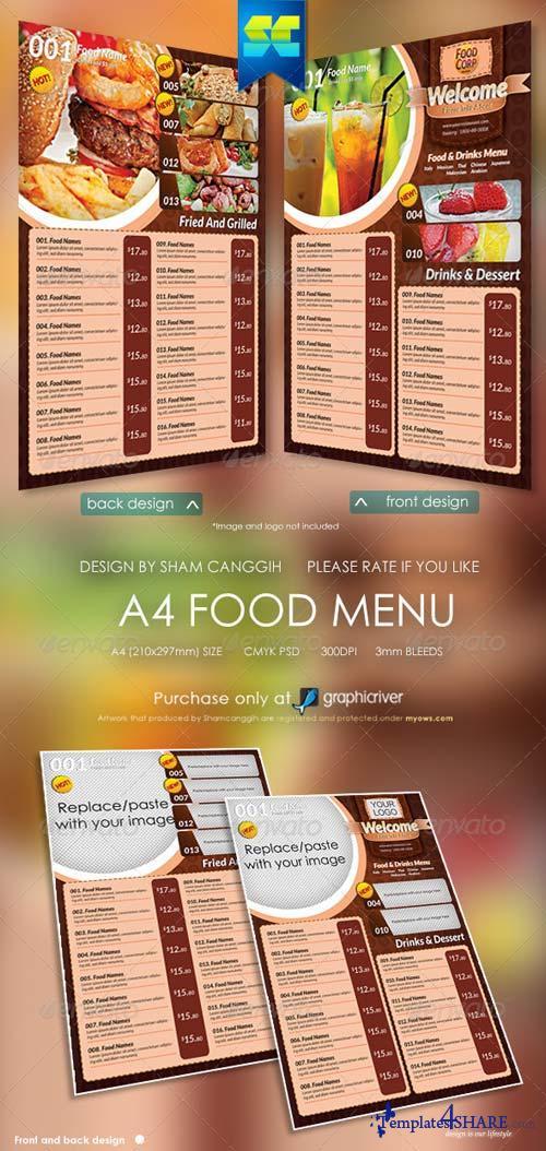 GraphicRiver A4 Size Restaurant Menu