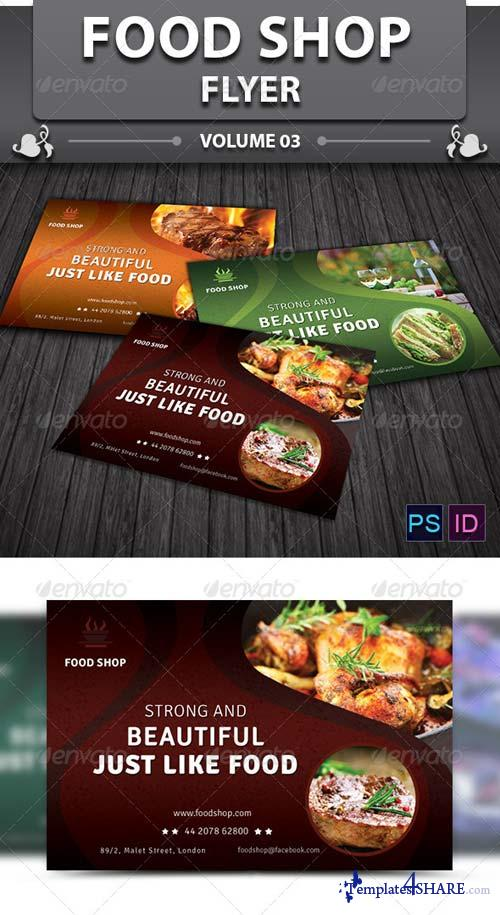 GraphicRiver Food Shop Flyer v3