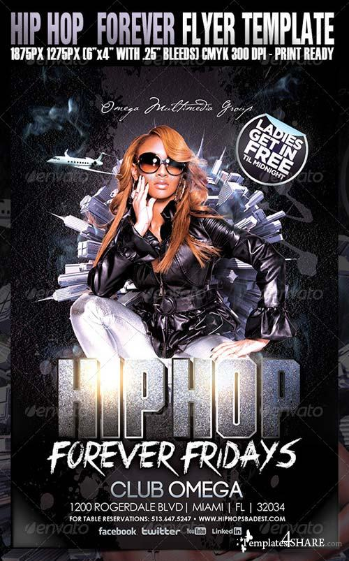 GraphicRiver Hip Hop Forever Party Flyer
