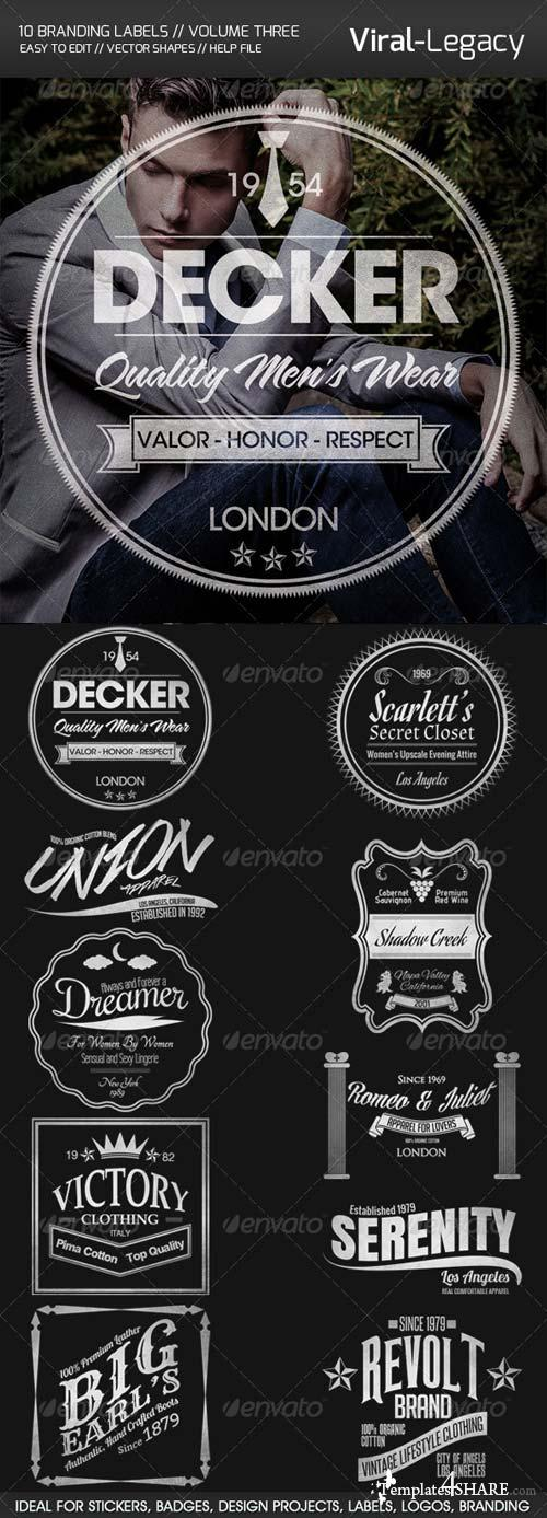 GraphicRiver 10 Branding Labels Volume Three
