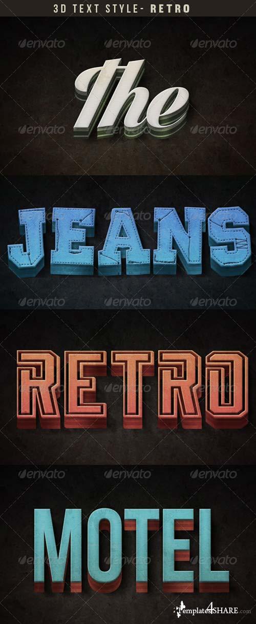 GraphicRiver Retro 3D Text Effect