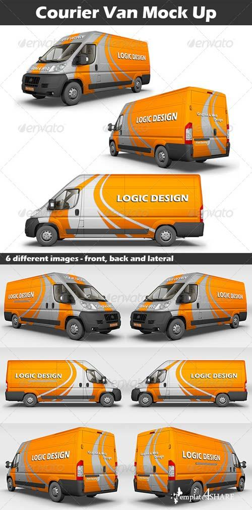 GraphicRiver Courier Van Mock Up