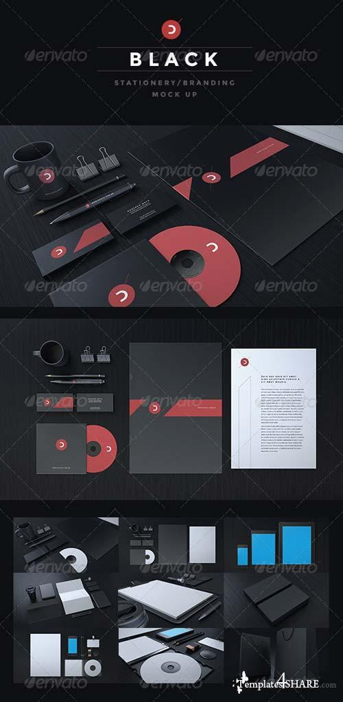 GraphicRiver Black Stationery / Branding Mock-Up