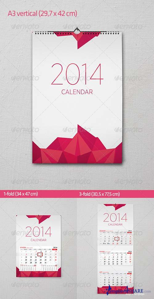 GraphicRiver Wall calendar mock-up set