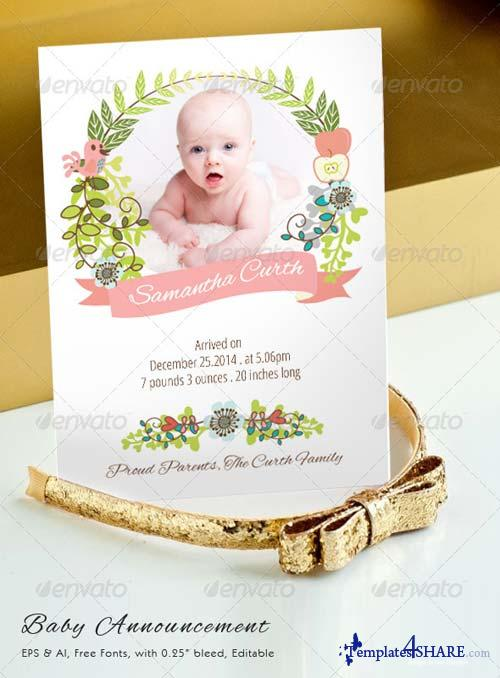 GraphicRiver Baby Announcement 1