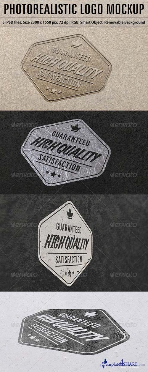 GraphicRiver Photorealistic Logo Mockup 5743986