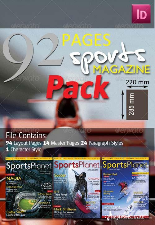 GraphicRiver 92 Pages Sports Magazine Pack