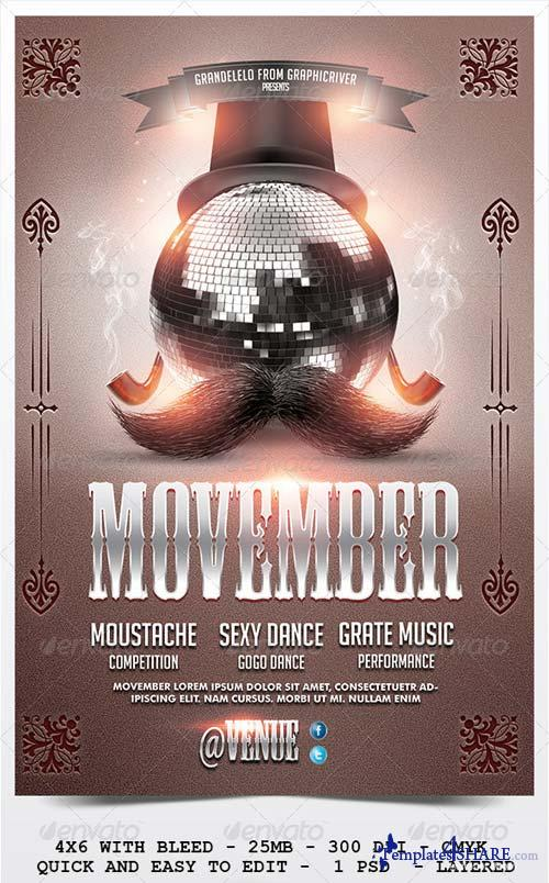 GraphicRiver Movember Flyer Template 2.0