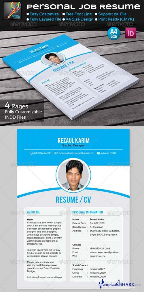 GraphicRiver Personal Job Resume