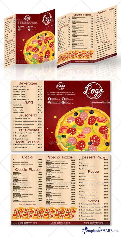 GraphicRiver Pizza Menu Grunge Style