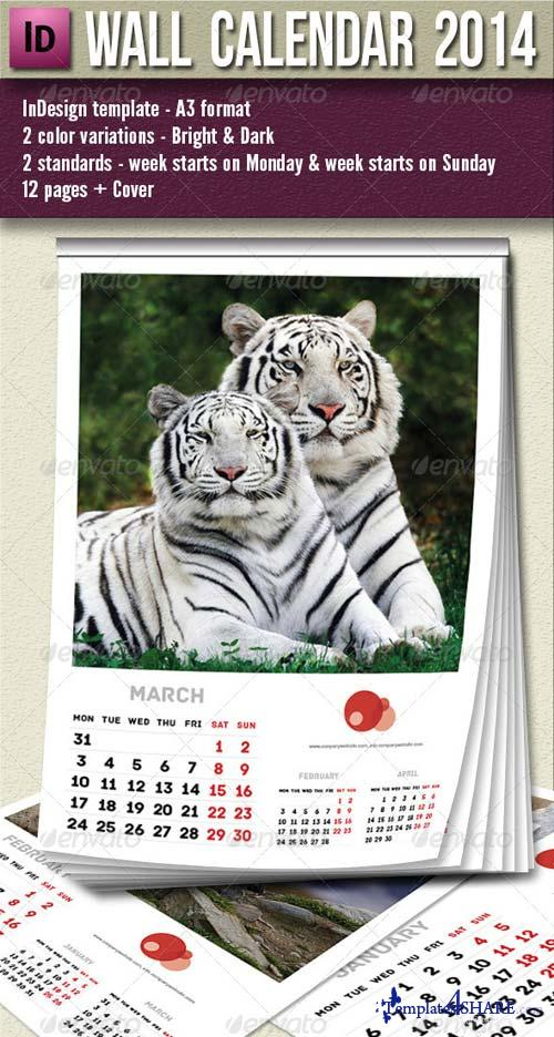 GraphicRiver Wall Calendar 2014 - 13 pages A3