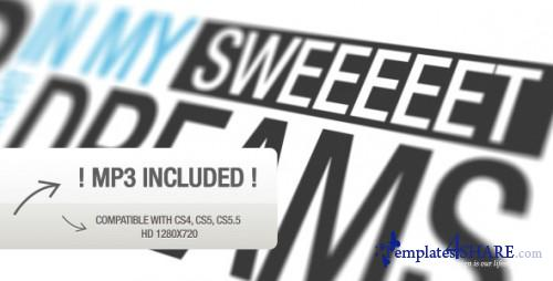 Close Your Eyes Typography - After Effects Project (Videohive)