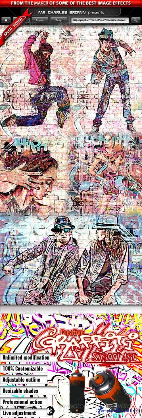 GraphicRiver Creative Graffiti Street Art