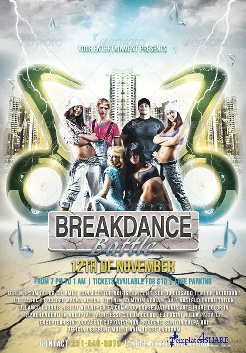 GraphicRiver Break Dance Flyer V3