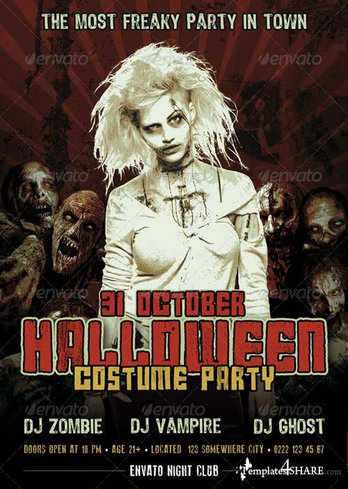 GraphicRiver Halloween Party Flyer 5733195
