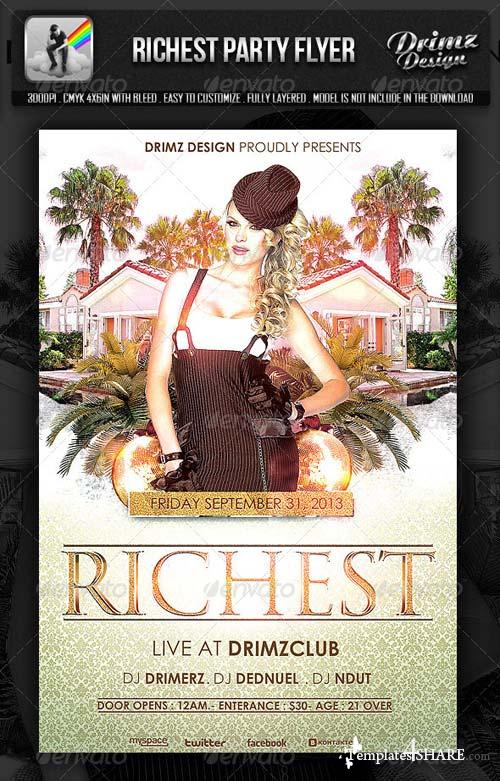 GraphicRiver Richest Party Flyer