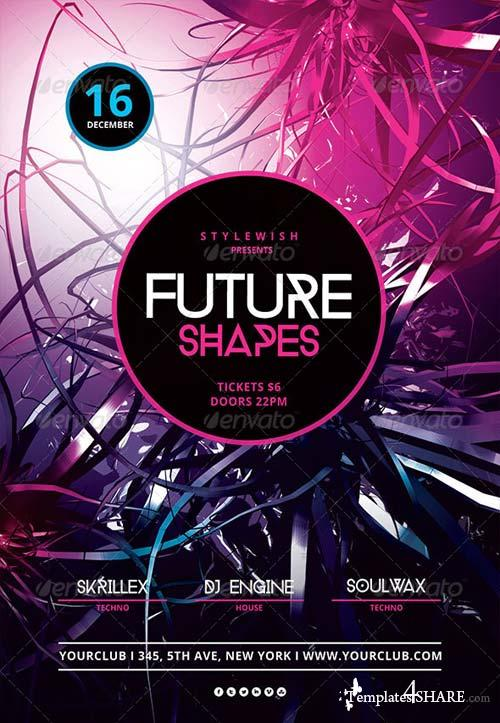GraphicRiver Future Shapes Flyer