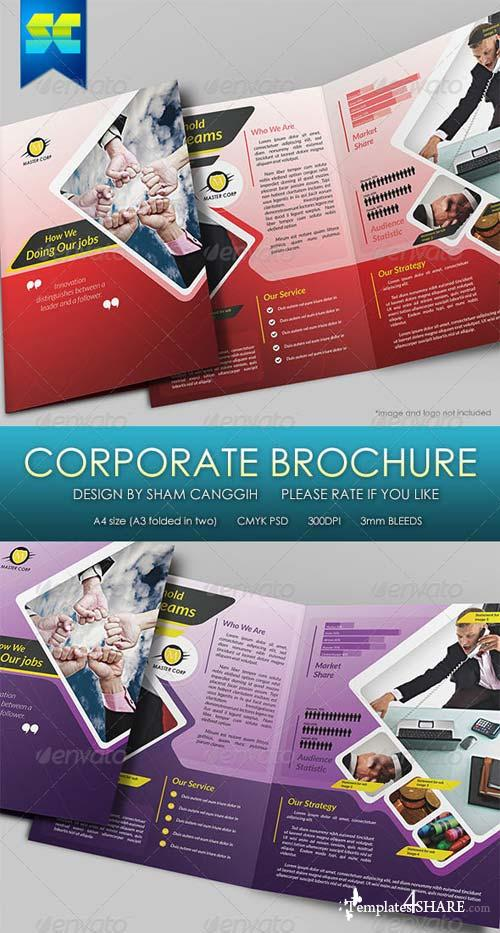 GraphicRiver Modern 4 Pages Bi-Fold Corporate Brochure