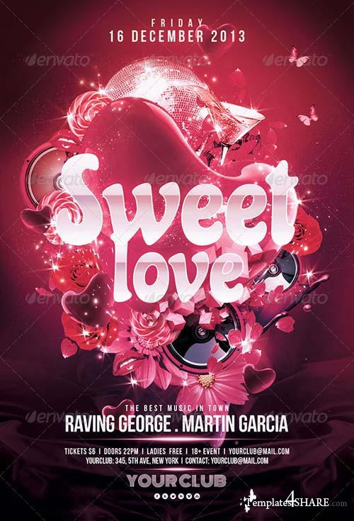 GraphicRiver Sweet Love Flyer