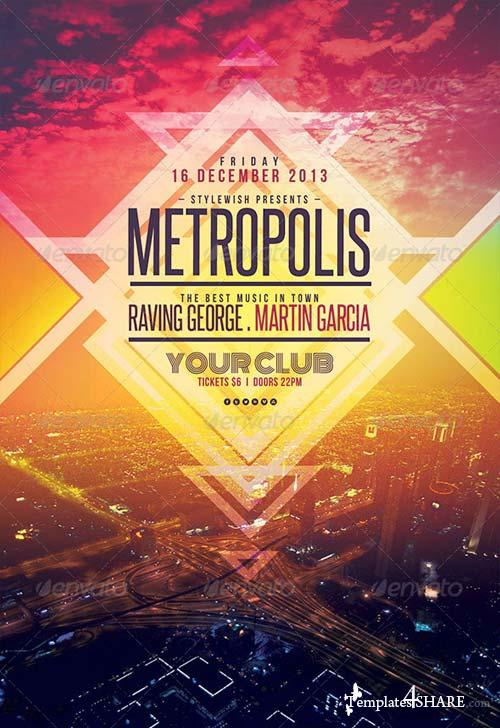 GraphicRiver Metropolis Flyer