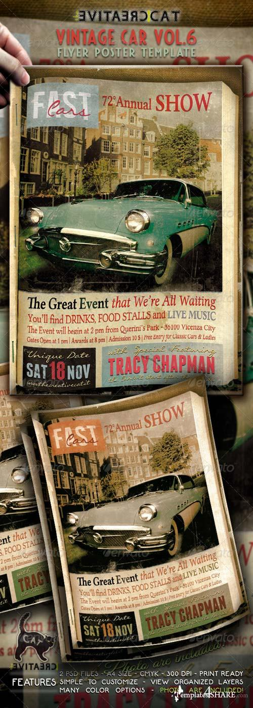 GraphicRiver Vintage Car Flyer/Poster Vol. 6