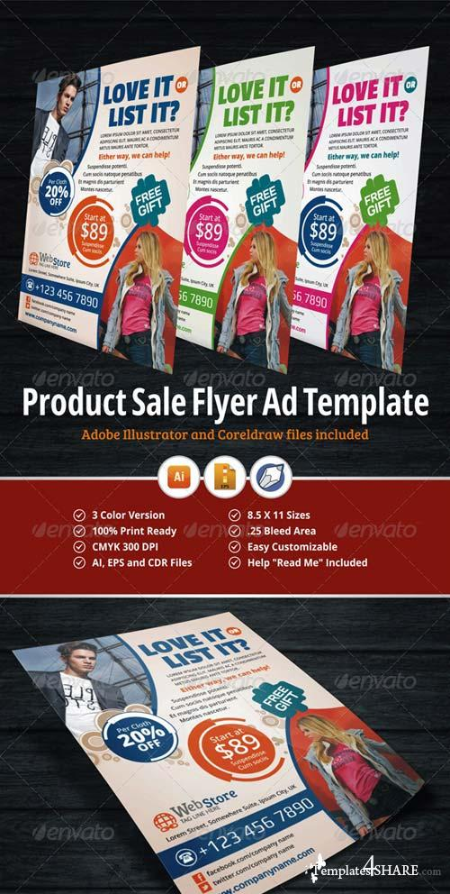 GraphicRiver Product Sale Flyer Ad Template