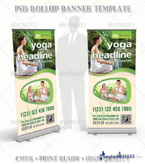GraphicRiver Yoga Multipurpose Rollup Banner 03