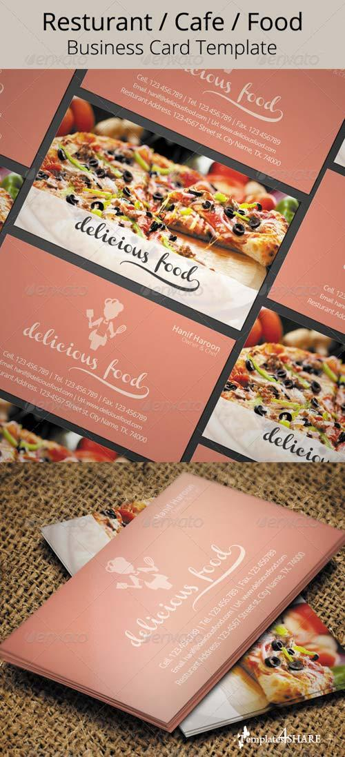 GraphicRiver Delicious Food Business Card