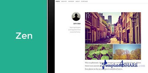 ThemeForest - Zen - A Premium Theme for Tumblr.