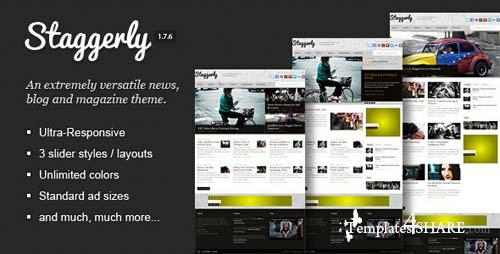 ThemeForest - Staggerly - Responsive News, Magazine & Blog Theme
