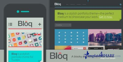 ThemeForest - Bloq - A Blocky Portfolio Theme for Tumblr