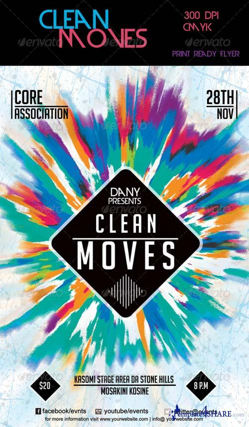 GraphicRiver Clean Moves Flyer 2