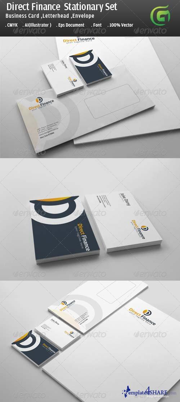 GraphicRiver Direct Finance Stationary Design
