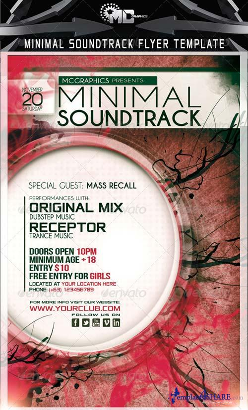 GraphicRiver Minimal Soundtrack Flyer Template